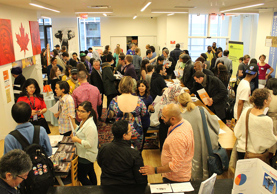 CSI's Turnout Toronto hosted 500 people for a civic engagement fair at CSI Regent Park. Photo by Chris DePaul