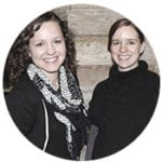 Photo of Eleanor Wendell and Kristina Drury, the TYTHEdesign team
