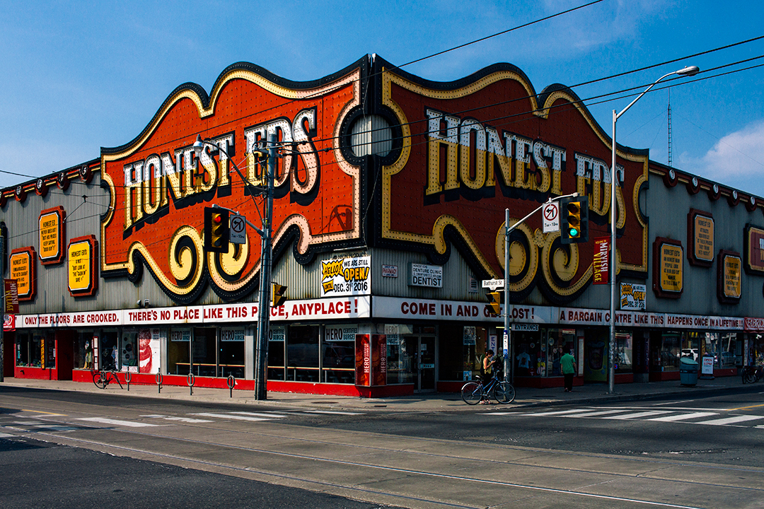 Honest Ed's building