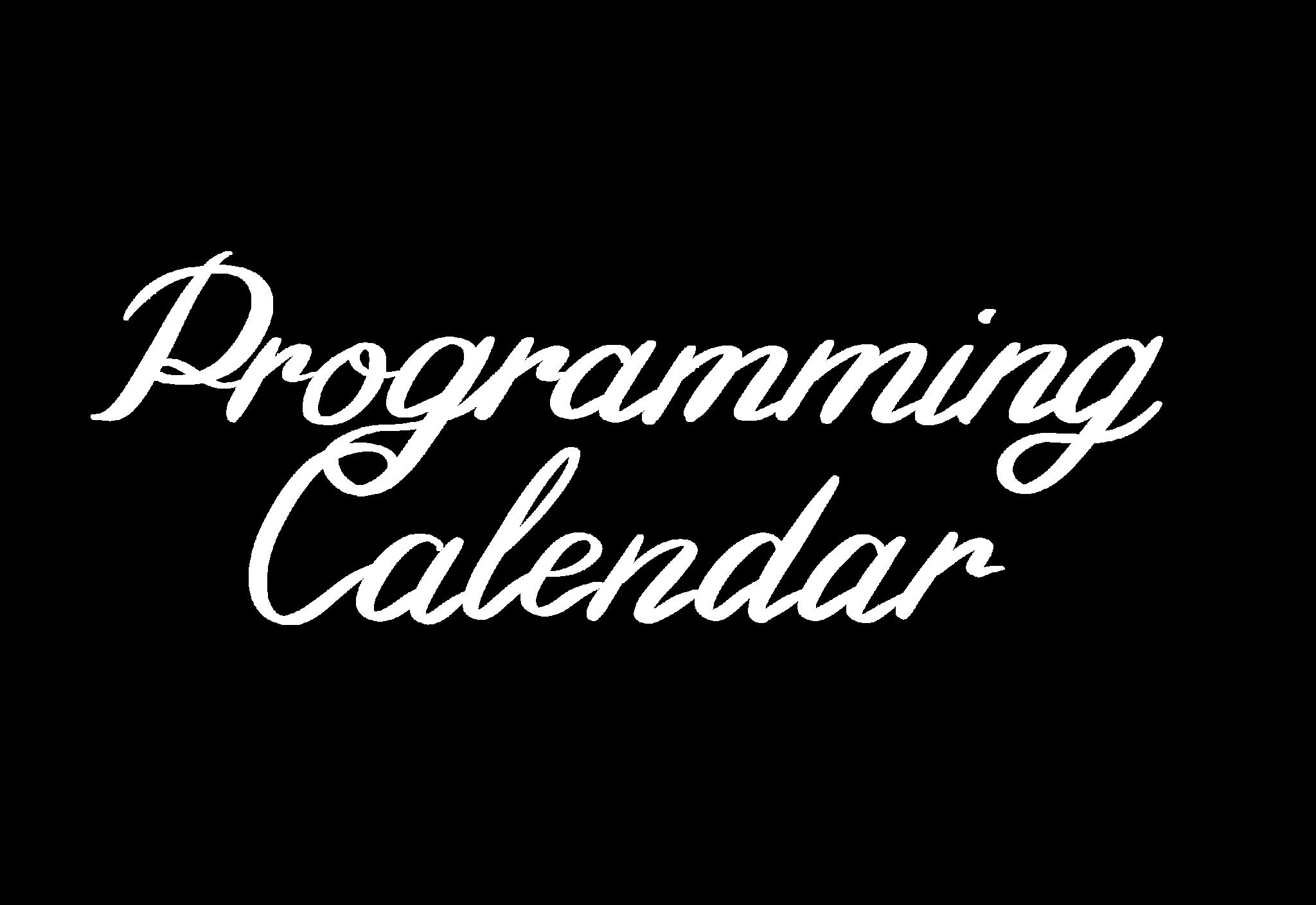 CSI Programming Calendar