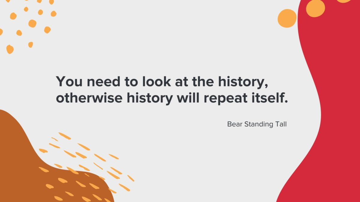 """Bear Standing Tall: """"You need to look at the history, otherwise history will repeat itself."""""""