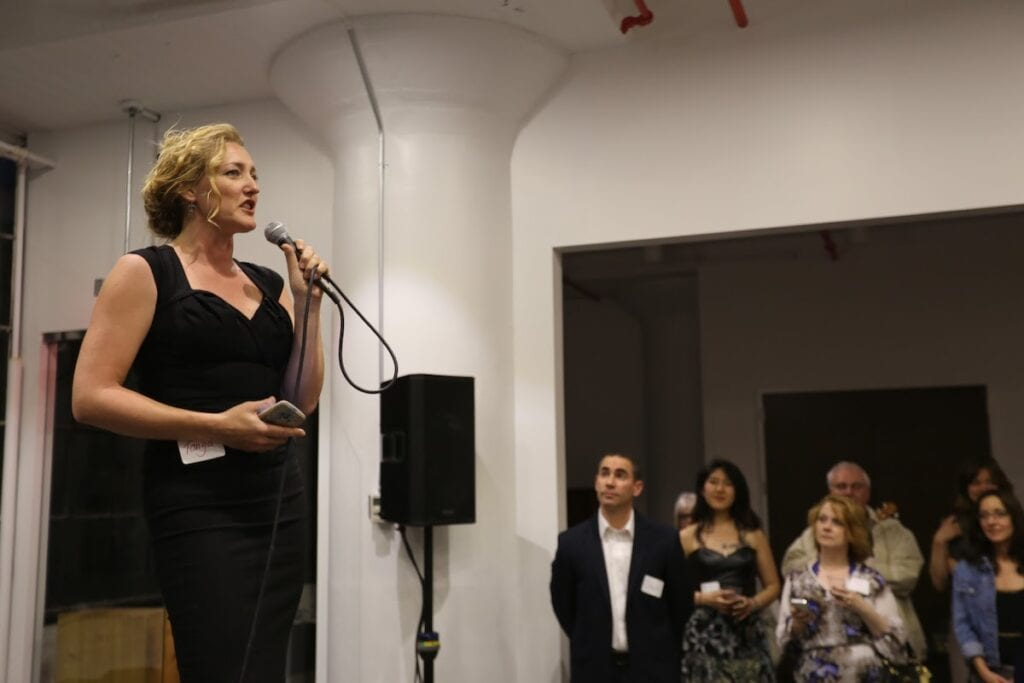 CSI's Founder and CEO Tonya Surman speaking to an audience