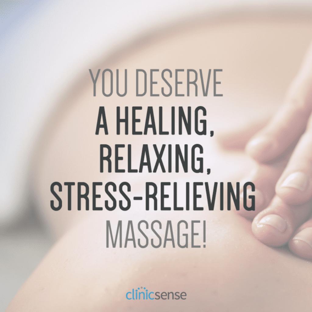 Close up of a back massage.