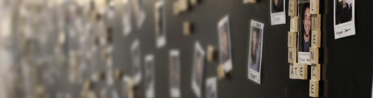 small portraits as fridge magnets
