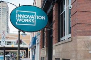 Sign outside of Innovation Works