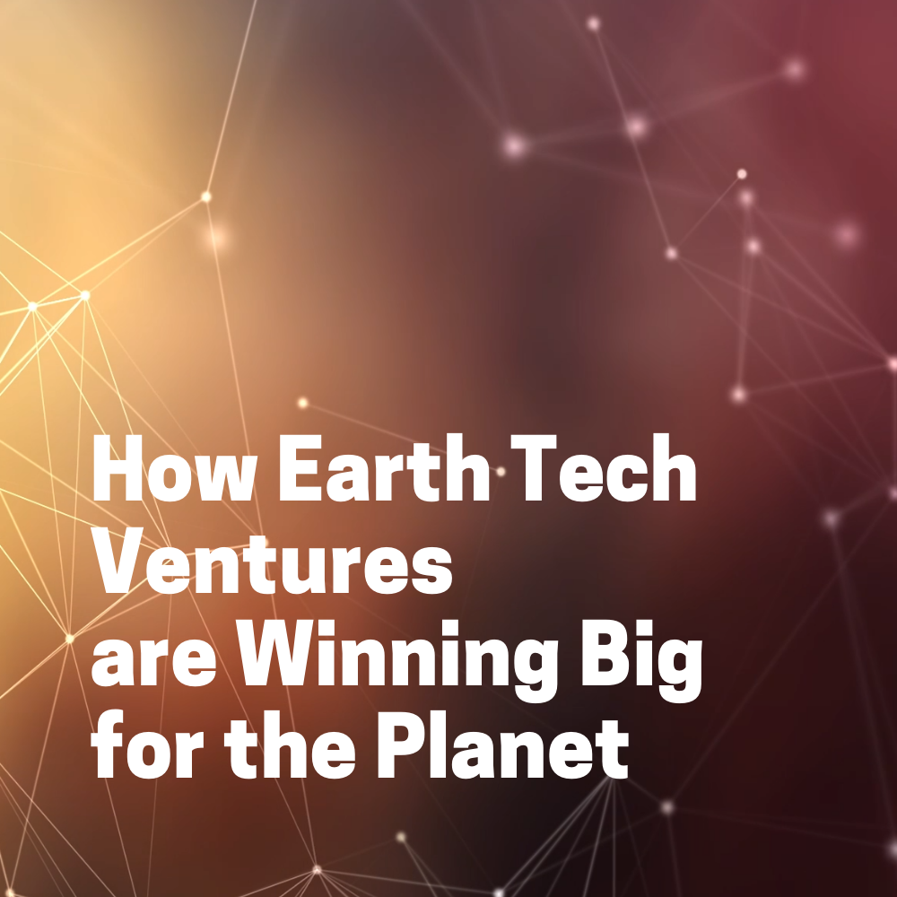 """""""How Earth Tech Ventures are Winning Big for the Planet"""" button"""