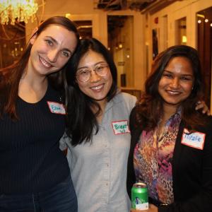 Three women posing for photo (one of them WOSEN program manager, Mitalie)